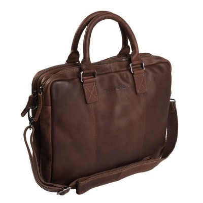 Photo of Leather Laptop Bag Brown Floris
