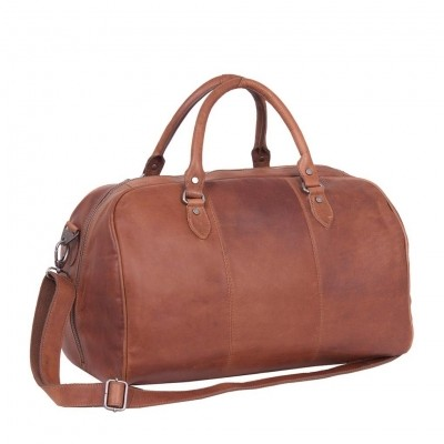 Photo of Leather Weekend Bag Cognac Liam