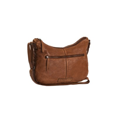 Leather Shoulder Bag Cognac Fran