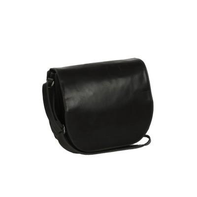 Leather Shoulder Bag Black Dijon