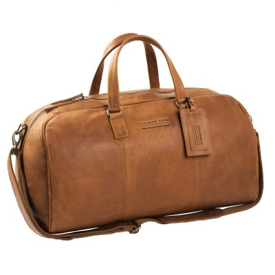 Photo of Leather Weekend Bag T1 Cognac Thomas Hayo
