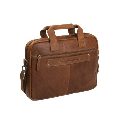 Photo of Leather Laptop Bag Cognac Calvi