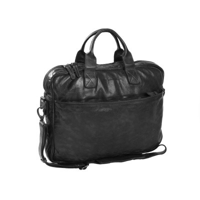 Leder Laptoptasche Anthrazit Antwerp
