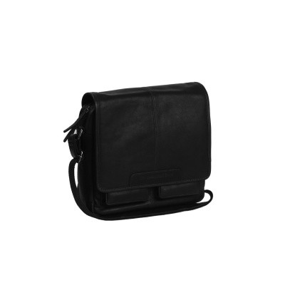Leather Shoulder Bag Black Cabo