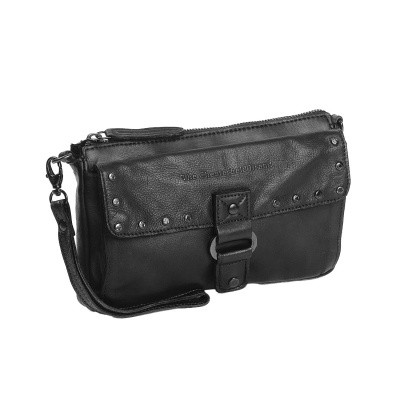 Photo of Leather Shoulder Bag Anthracite Black Label Cancun