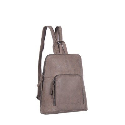 Photo of Leather Backpack Taupe Vivian