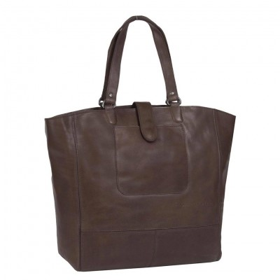 Leather Shopper Brown Jaimy