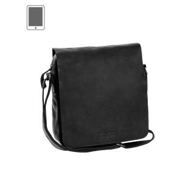 Photo of Leather Shoulder Bag T3 Black Thomas Hayo