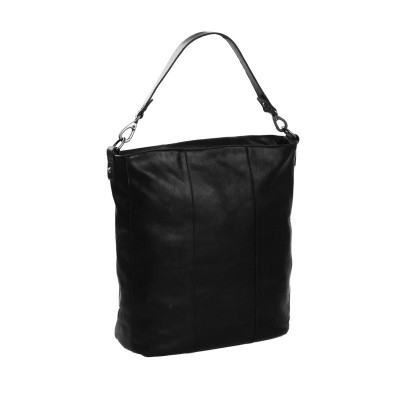 Leather Shoulder Bag Black Bruges