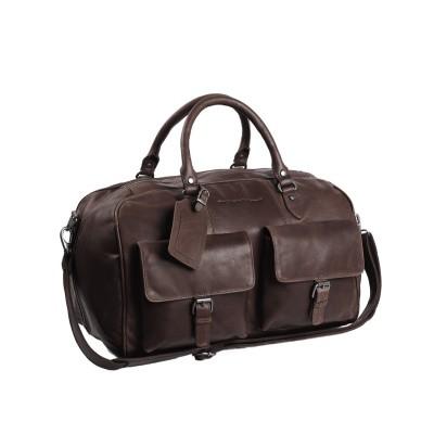 Leather Weekend Bag Brown Wesley