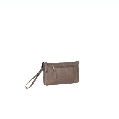 Photo of Leather Clutch Taupe Sonia