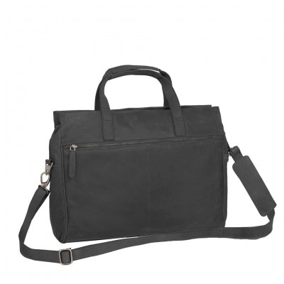 Photo of Leather Laptop Bag Black Damian
