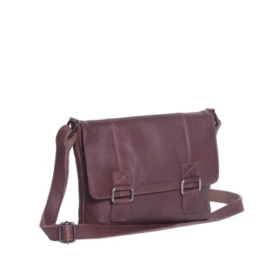 Leather Shoulder Bag Brown Elena