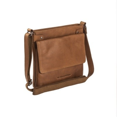 Leather Shoulder Bag Cognac Brussels