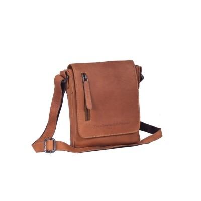 Leather Shoulder Bag Cognac Kyle