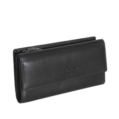 Leather Wallet Black Thea