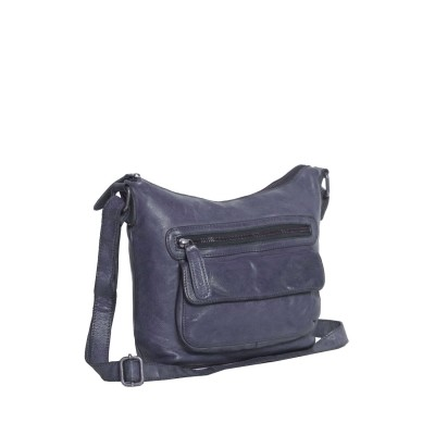 Photo of Leather Shoulder Bag navy Aliz