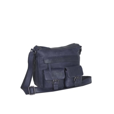 Leather Shoulder Bag Navy Monica