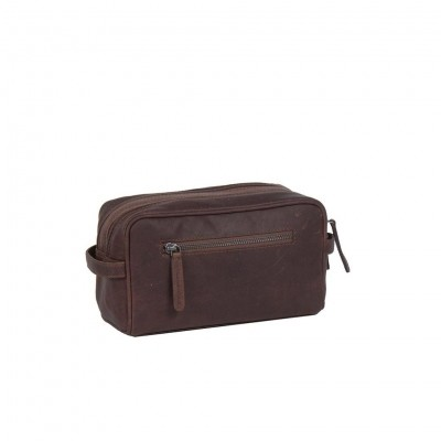 Photo of Leather Toiletry Bag Brown Stefan