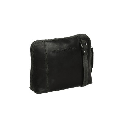 Leather Shoulder Bag Black Dallas