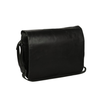 Leather Shoulder Bag Black Denver