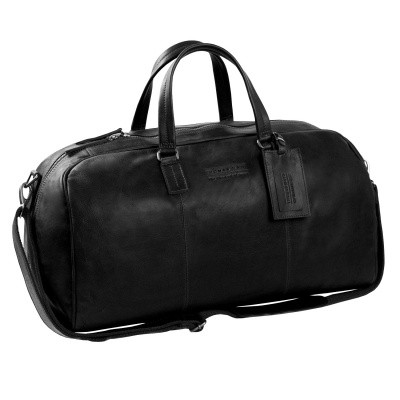 Leather Weekend Bag T1 Black Thomas Hayo