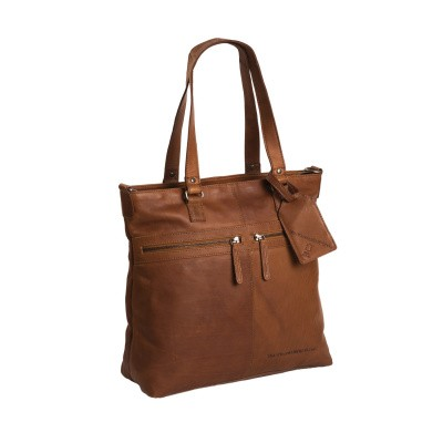 Leather Shopper Bag Cognac Cleo