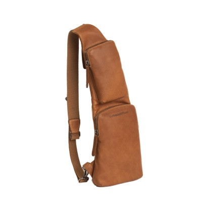 Leather Crossbody Bag Cognac Cognac