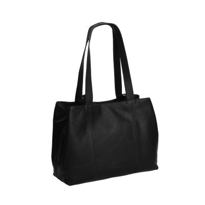 Leather Shoulder Bag Black Gail
