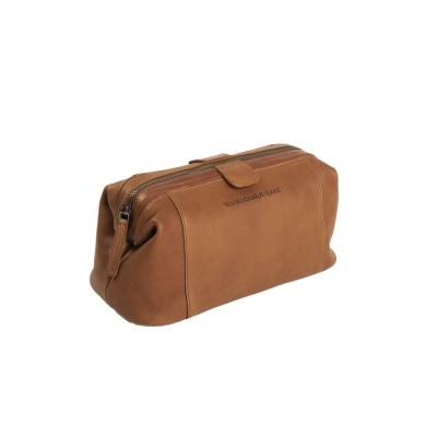 Photo of Leather Toiletry Bag Cognac Vince