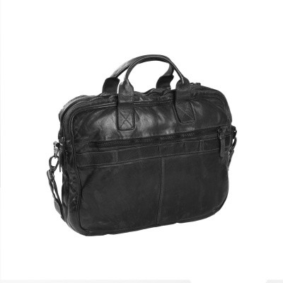 Photo of Leather Laptopbag Anthracite Amsterdam