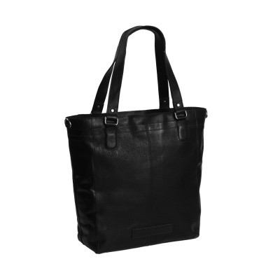 Leather Tote Bag Black Jade