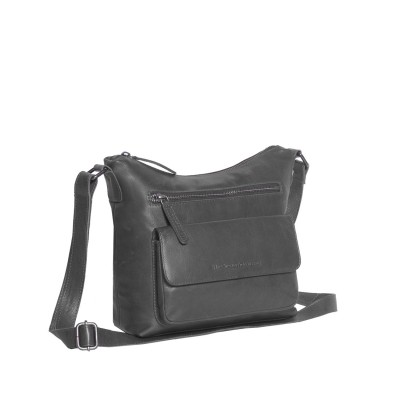 Leather Shoulder Bag Black Hailey