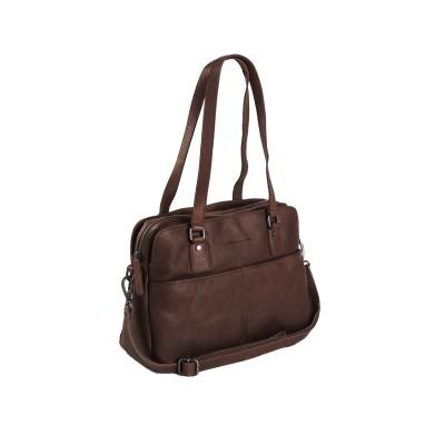 Leather Shoulder Bag Brown Barcelona