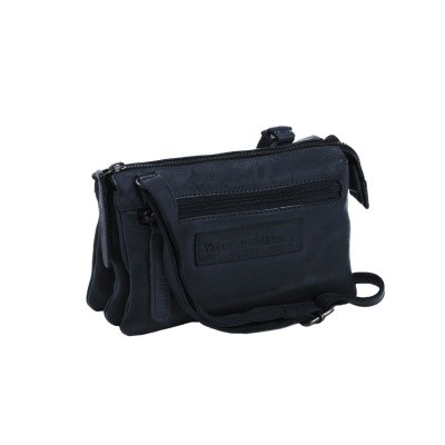 Photo of Leather Shoulder Bag Navy Ivy