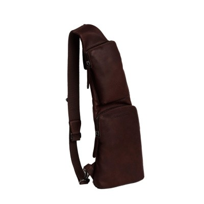 Photo of Leather Crossbody Bag Brown Logan