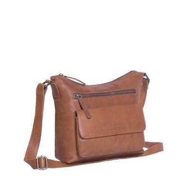 Leather Shoulder Bag Cognac Hailey