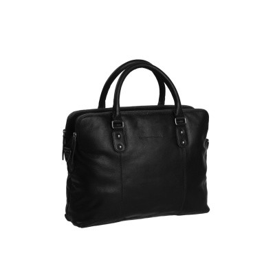 Photo of Leather Laptop Bag Black Stephanie