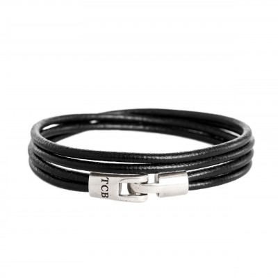 Photo of Leather Bracelet Black Trusci