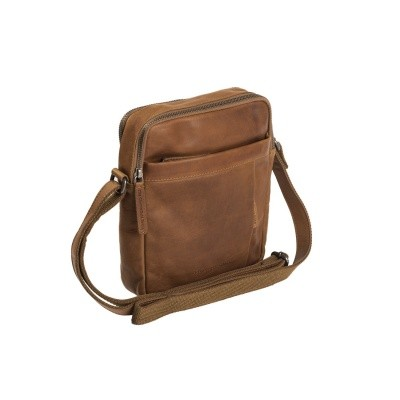 Leather Shoulder Bag Cognac Alva