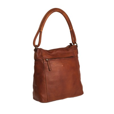 Photo of Leather Shoulder Bag Cognac Black Label Ellen