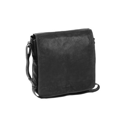 Leather Shoulder Bag Anthracite Almada