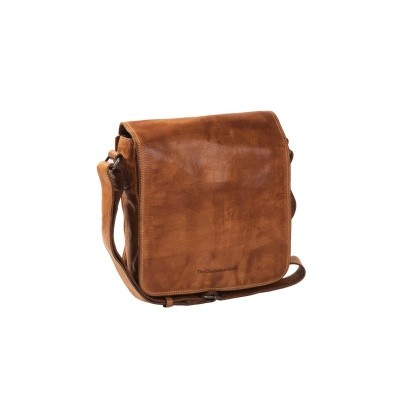Leather Shoulder Bag Cognac Aden
