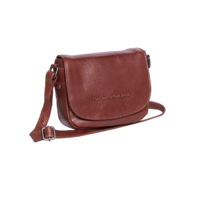 Leather Shoulder Bag Cognac Ilse