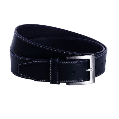 Leather Belt Navy Fela