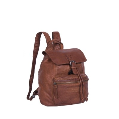 Leather Backpack Cognac Rose