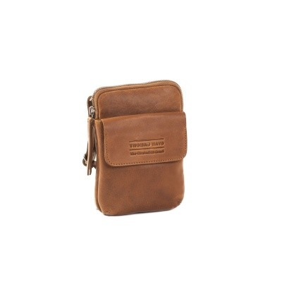 Leather Shoulder Bag T11 Cognac Thomas Hayo