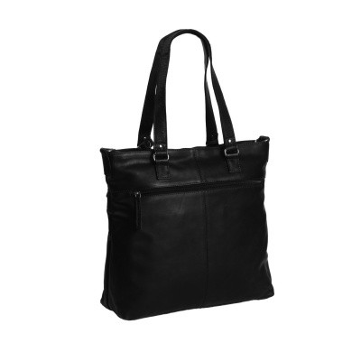 Foto von Leder Shopper Black Cleo