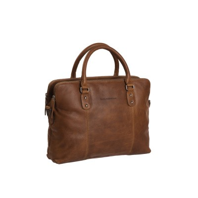 Leren Laptoptas Cognac Stephanie