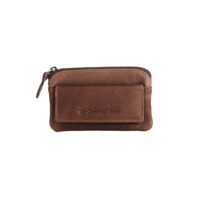 Leather Key Pouch Brown Oliver
